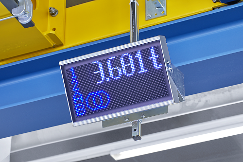 Visualisation of the load weight on Demag StatusBoard.