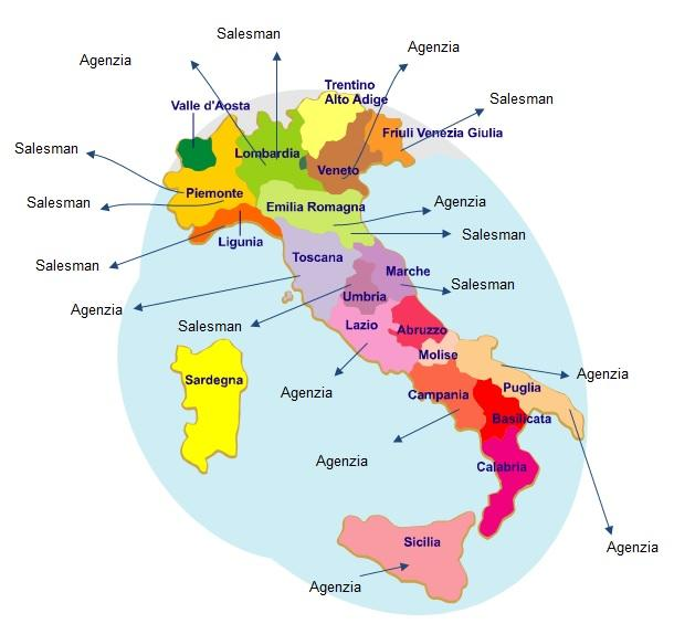 SALES NETWORK IN ITALY MAP