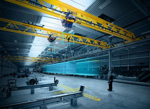 Demag smart-tandem enables the possibility to transport heavy or bulky loads with two cranes and up to four hoists.