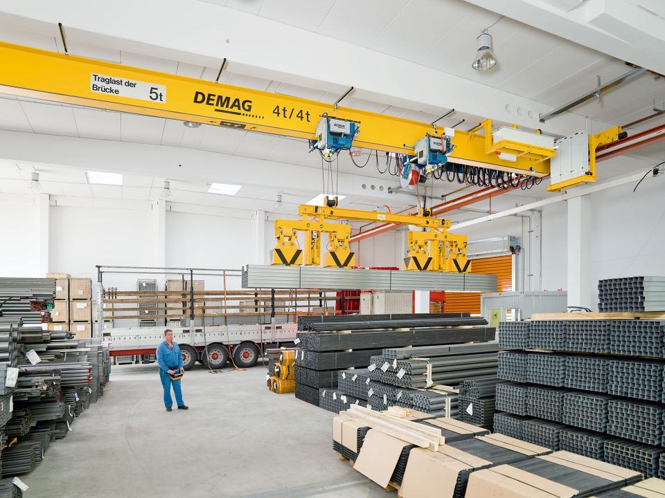 EKKE single-girder overhead travelling cranes up to 12 5
