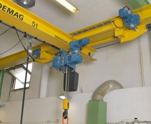 5-tonne EPDE suspension crane with travel unit
