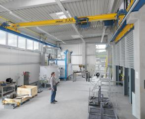 EPKE single-girder overhead travelling cranes with rolled profile section