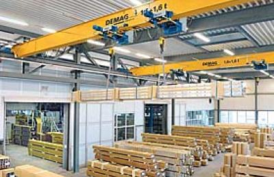 Demag kbk and slewing jib cranes at ktr kupplungstechnik - Terex material handling port solutions ag ...