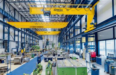 ZKKE double-girder overhead travelling cranes up to 100