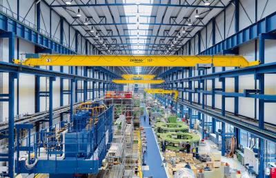 EKKE single-girder overhead travelling cranes